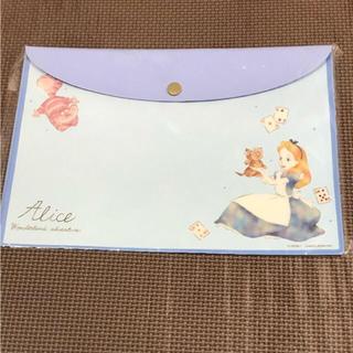 ディズニー(Disney)のディズニー♡アリス♡ファイル入れ♡クリアケース♡B5(クリアファイル)