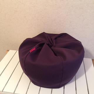 【ミニサイズ ビーズクッション】紫(ビーズソファ/クッションソファ)