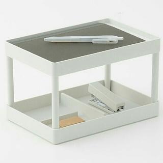 ムジルシリョウヒン(MUJI (無印良品))の無印良品 ABS樹脂 棚付きトレー+仕分けトレー(収納/キッチン雑貨)