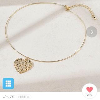 ナチュラルクチュール(natural couture)の試着のみ!ゴールドハートチョーカーネックレス☆(