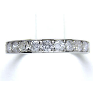 プラチナ 1ct ハーフ エタニティ ダイヤモンド リング(リング(指輪))