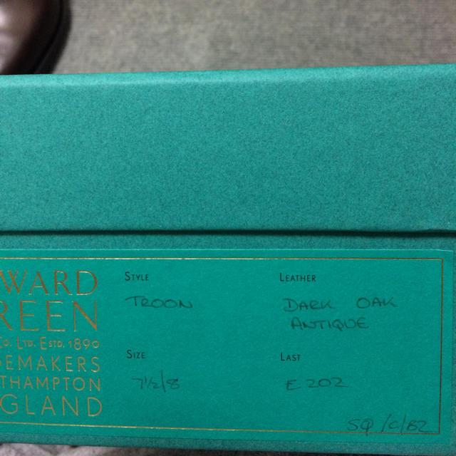 EDWARD GREEN(エドワードグリーン)の新品未使用 エドワードグリーン 7h メンズの靴/シューズ(ドレス/ビジネス)の商品写真