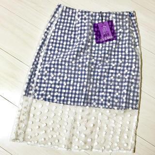 ドリーモリー(Dolly&Molly)の新品 Dolly&Molly ドリーモリー ドットシースルータイトスカート(ひざ丈スカート)