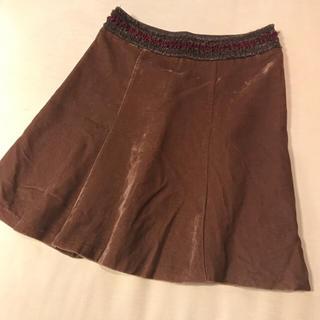 クレデヴェール(cledevers)の1度のみ着用♡ベロア スカート(ひざ丈スカート)