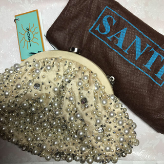 サンティ(SANTI)のSANTI パールクラッチバッグ 新品(クラッチバッグ)