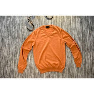 ザノーネ(ZANONE)の高級ZANONE ザノーネ Vネック ニット セーター 46 オレンジ(ニット/セーター)