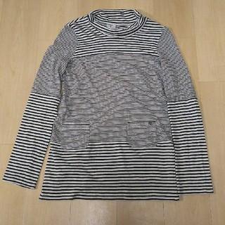 シャネル(CHANEL)の再々値下❗️  シャネル Chanel ボーダー プルオーバー42白×黒×グレー(カットソー(長袖/七分))