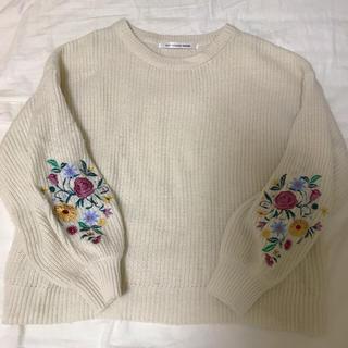 美品✨Raycassin💋お花刺繍ニット💋