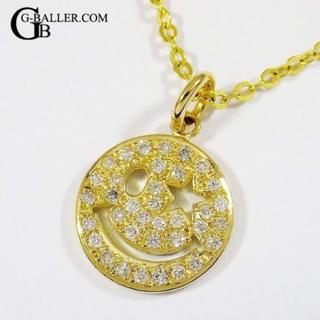 ジーボーラー(G-BALLER)のスマイルペンダント ダイヤモンド 18K ゴールド G-BALLERブランド(ネックレス)