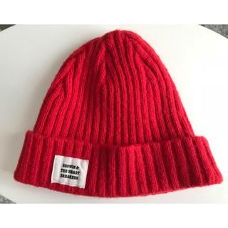 ベドウィン(BEDWIN)のBEDWINニット帽(赤)(ニット帽/ビーニー)