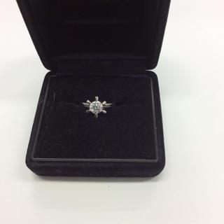 プラチナ ダイヤモンドリング  Pt900  12号  中古  md(リング(指輪))