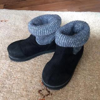 ムジルシリョウヒン(MUJI (無印良品))の無印 ニット素材が可愛いブーツ 16センチ(ブーツ)
