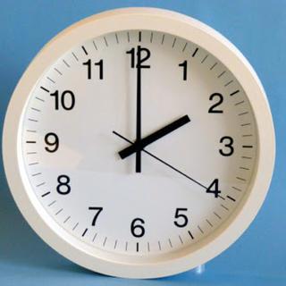 ムジルシリョウヒン(MUJI (無印良品))のmariさま専用 未使用☆壁掛け時計 25cm(掛時計/柱時計)