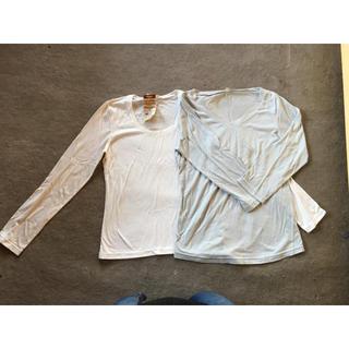 ムジルシリョウヒン(MUJI (無印良品))の無印 コットンTシャツ 2枚セット(Tシャツ(長袖/七分))