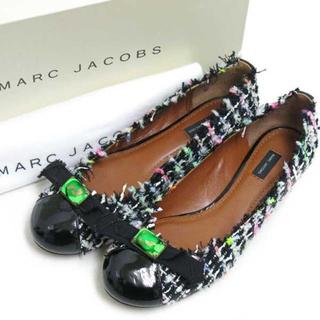 マークジェイコブス(MARC JACOBS)の新品 MARC JACOBS ツイード バレエシューズ size35 パンプス(バレエシューズ)