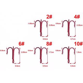 10個1セット300円から トレブルフック トリプルフック 赤 ソルト対応 赤針(その他)