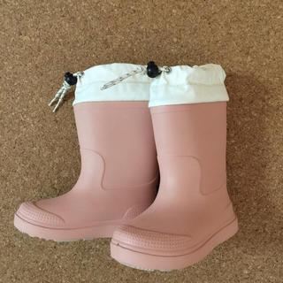 ムジルシリョウヒン(MUJI (無印良品))の無印良品 レインブーツ  ピンク 19〜20(長靴/レインシューズ)