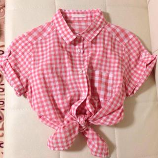 ジーユー(GU)のdazzlin風♡ギンガムチェックシャツ(シャツ/ブラウス(半袖/袖なし))