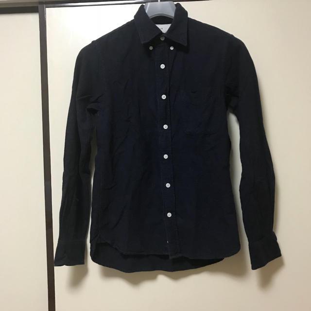 MUJI (無印良品)(ムジルシリョウヒン)の無印良品 フランネルシャツ xs ネイビー メンズのトップス(シャツ)の商品写真
