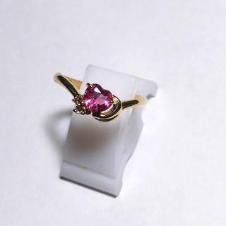 ジュエリーマキ(ジュエリーマキ)のピンクのハートピンキーリング(リング(指輪))