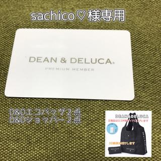 ディーンアンドデルーカ(DEAN & DELUCA)の《2点おまとめ》紙袋付  エコバッグ  DEAN&DELUCA 黒(トートバッグ)