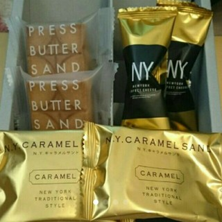 N.Y.キャラメルサンド&プレスバターサンド&N.Y.パーフェクトチーズ セット(菓子/デザート)