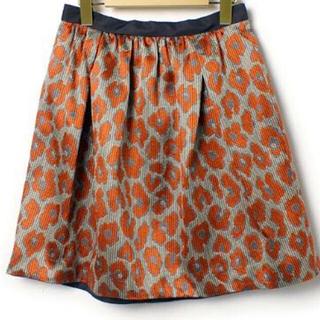 デミルクスビームス(Demi-Luxe BEAMS)のDemi-luxe BEAMS レオパード柄フレアスカート(ひざ丈スカート)