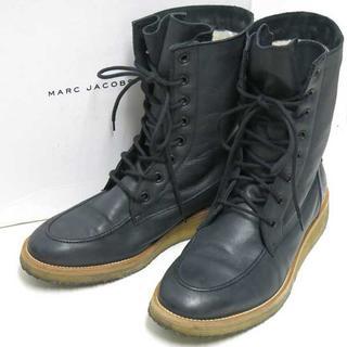 マークジェイコブス(MARC JACOBS)のMARC JACOBS 内ボア レースアップ ブーツ size8 黒 メンズ(ブーツ)