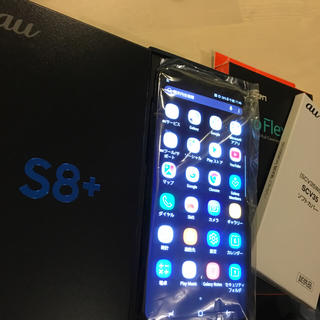 ギャラクシー(galaxxxy)のGalaxy S8 + SCV35 新品未使用 プチオマケ付き 判定◯ 黒(スマートフォン本体)