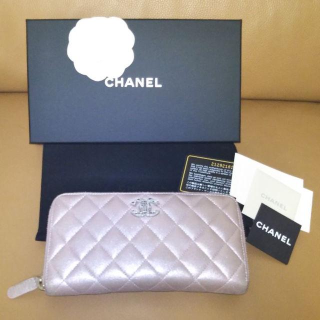 916032243483 CHANEL(シャネル)の本物CHANELシャネルチェーンミー長財布ピンク レディースのファッション