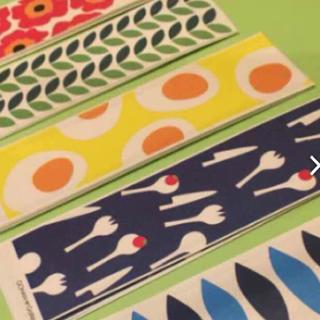 マリメッコ(marimekko)のマリメッコ  割割り箸袋  北欧柄  10枚×5種類  50枚  イッタラ(カトラリー/箸)