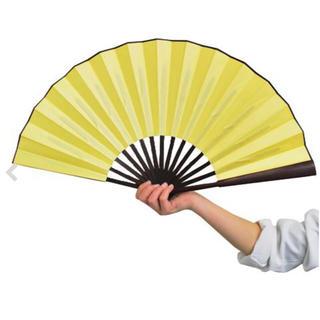 カラー扇子 ゴールド 金 コスプレ ダンス用(小道具)