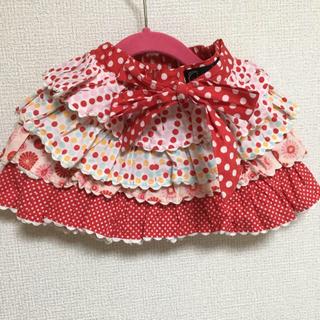 ウーヴィーベビー(Oobi BABY)のoobi フリフリスカート ピンク 1/2y 80-90 女の子 春 誕生日(スカート)