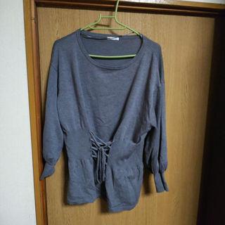 ジーユー(GU)のGU☆コルセット風ニット XL(ニット/セーター)