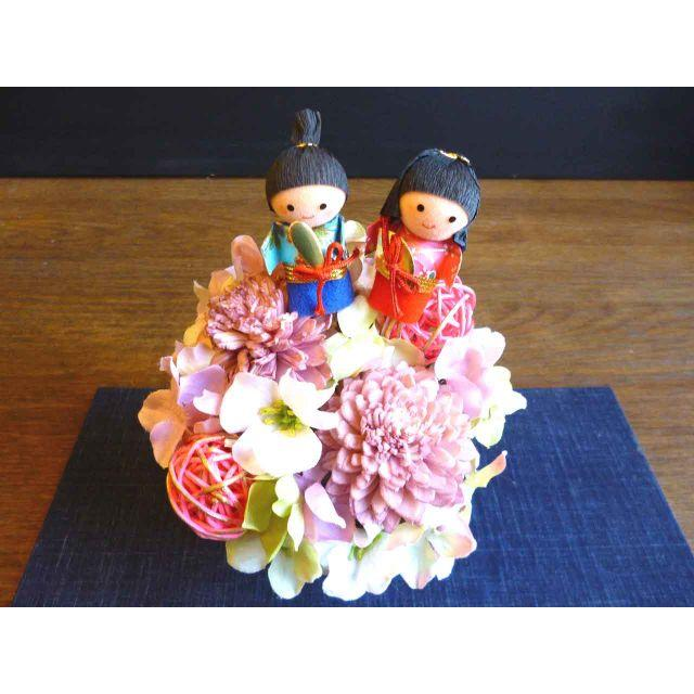 【ひな祭り】年中飾れる?!取り外し可能♡桃の節句アレンジ ハンドメイドのフラワー/ガーデン(その他)の商品写真