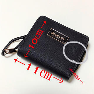 ザラ(ZARA)のスペイン購入 折りたたみ財布(ブラック)(折り財布)