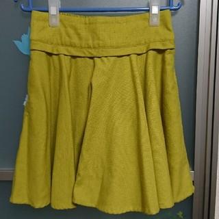 ダブルネーム(DOUBLE NAME)の【DOUBLENAME】きみどり色のスカート(ミニスカート)