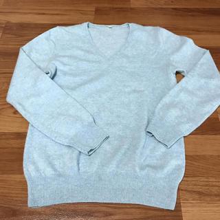 ムジルシリョウヒン(MUJI (無印良品))のセーター Vネック(カシミヤ100%)(ニット/セーター)