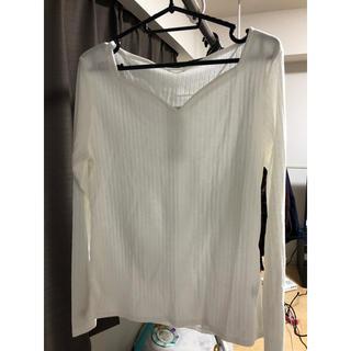 ジーユー(GU)のハートネットTシャツ 長袖✳︎美品.(Tシャツ(長袖/七分))