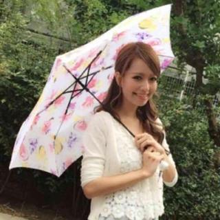 リエンダ(rienda)のrienda♡ノベルティ花柄折りたたみ傘 ホワイト(傘)