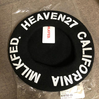 ミルクフェド(MILKFED.)のミルクフェド ベレー帽 黒(ハンチング/ベレー帽)