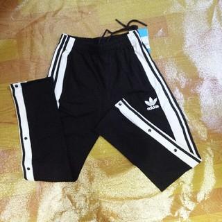 アディダス(adidas)のアディダス おしゃれストライプ 長ズボン XL サイズ 黒色(チノパン)