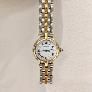 カルティエ(Cartier)の美品✨2ロウ パンテール デイト付きカルティエ Cartier コンビ 腕時計(腕時計)