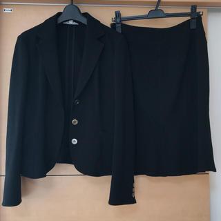 ミッシェルクラン(MICHEL KLEIN)のミッシェルクラン ジャケットスーツ セットアップ黒/スカート 定価7万☆(スーツ)