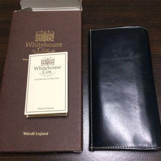 ホワイトハウスコックス(WHITEHOUSE COX)のホワイトハウスCox 長財布 BLK/ROYAL(長財布)