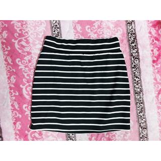 イング(INGNI)のINGNI♡イング♡ボーダー♡タイトスカート♡ブラック(ミニスカート)