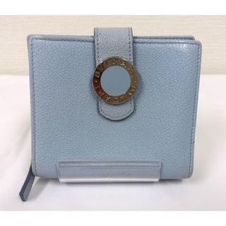 0d276a093fe0 BVLGARI - BVLGARI ブルガリ 二つ折り財布 綺麗な水色 レザー(HL11の通販|ラクマ