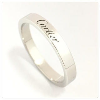 カルティエ(Cartier)の新品仕上済☆カルティエ☆エングレーブド☆指輪☆Pt950☆プラチナリング☆17号(リング(指輪))