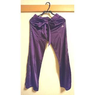 アディダス(adidas)のアディダス紫ウエストリボンジャージパンツ(ワークパンツ/カーゴパンツ)