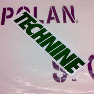 テックナイン(TECHNINE)のTECHNINE テックナイン DIECUT LOGOSTICKER 緑20cm(アクセサリー)